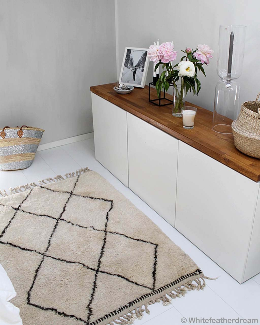 glass of milk on chest moroccan made modern small rugs