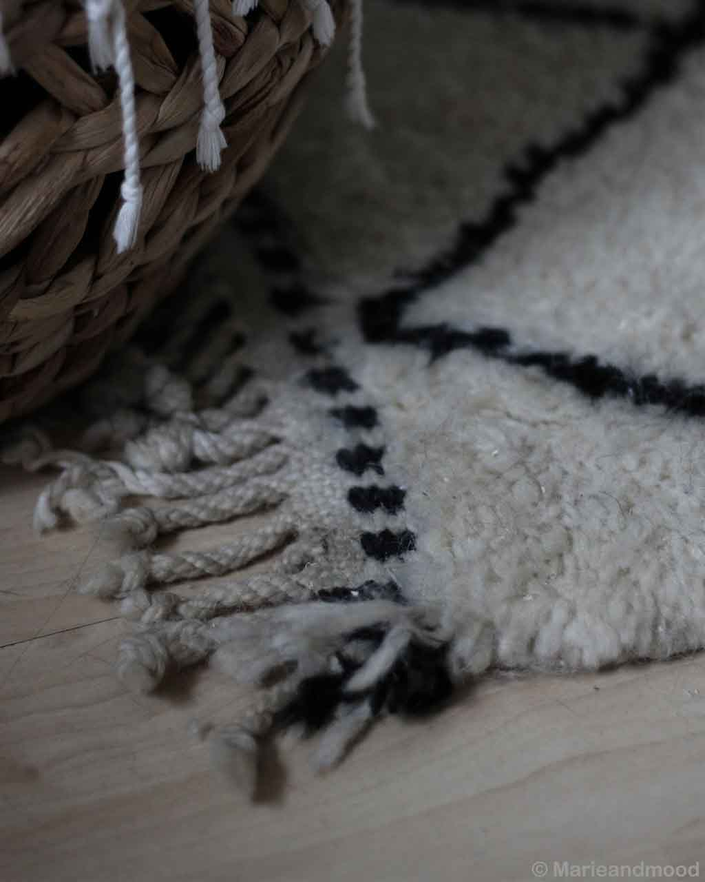 hand knotted wooden floor and basket made in morocco modern floor rugs