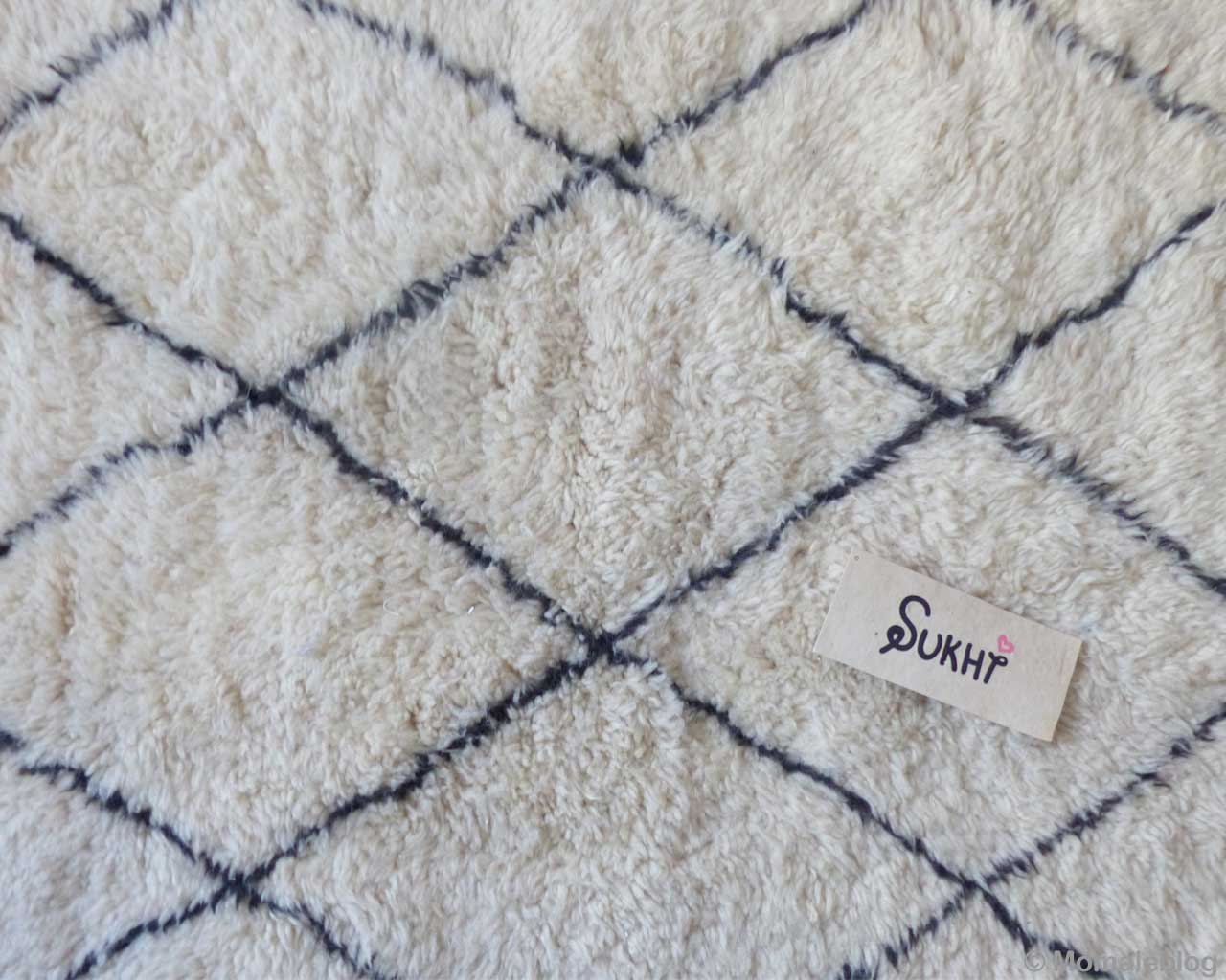 handmade berber contemporary cream beni ourain black pattern colorful rugs