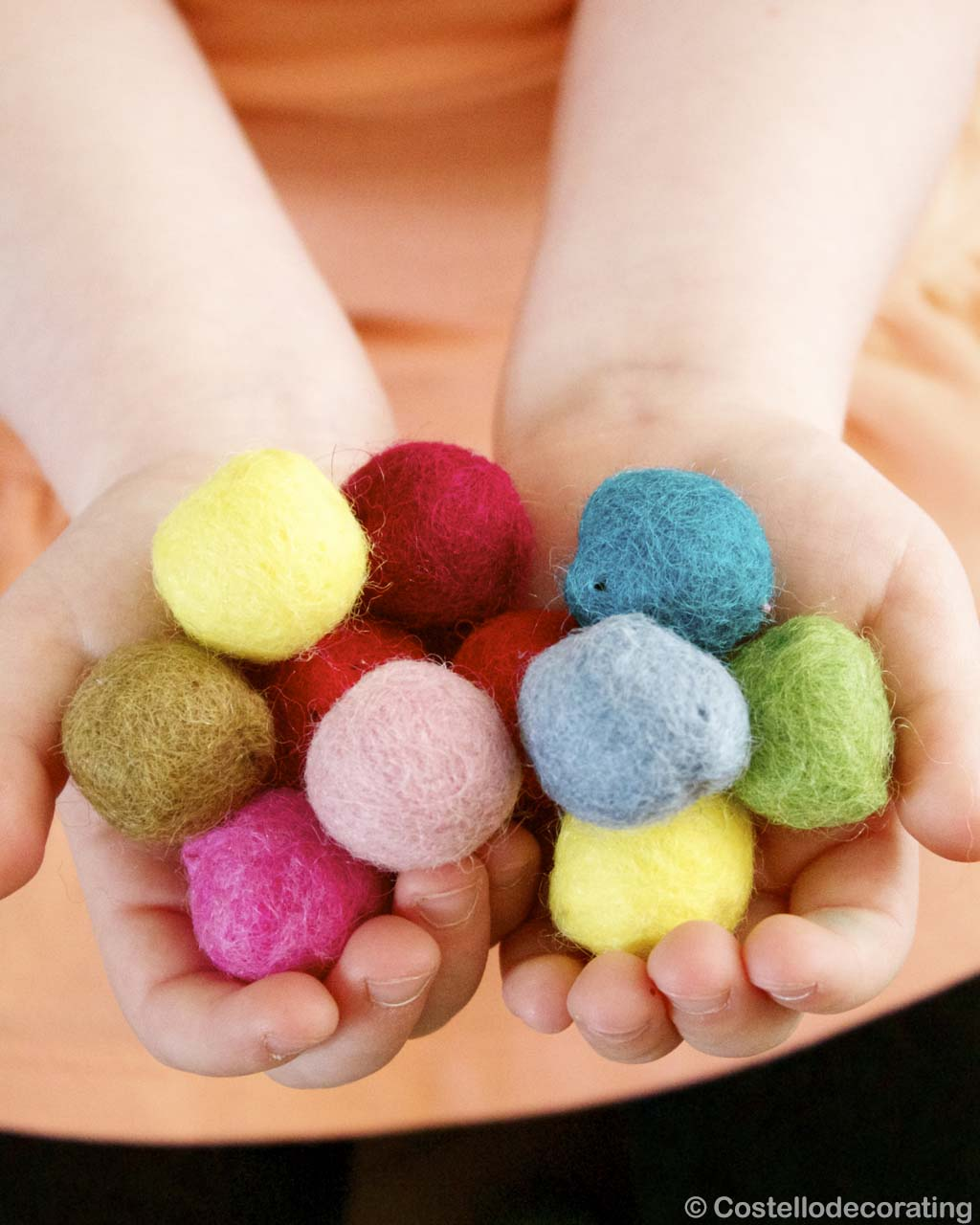 multiple colors raw felt in hands made by nepalian modern small rugs