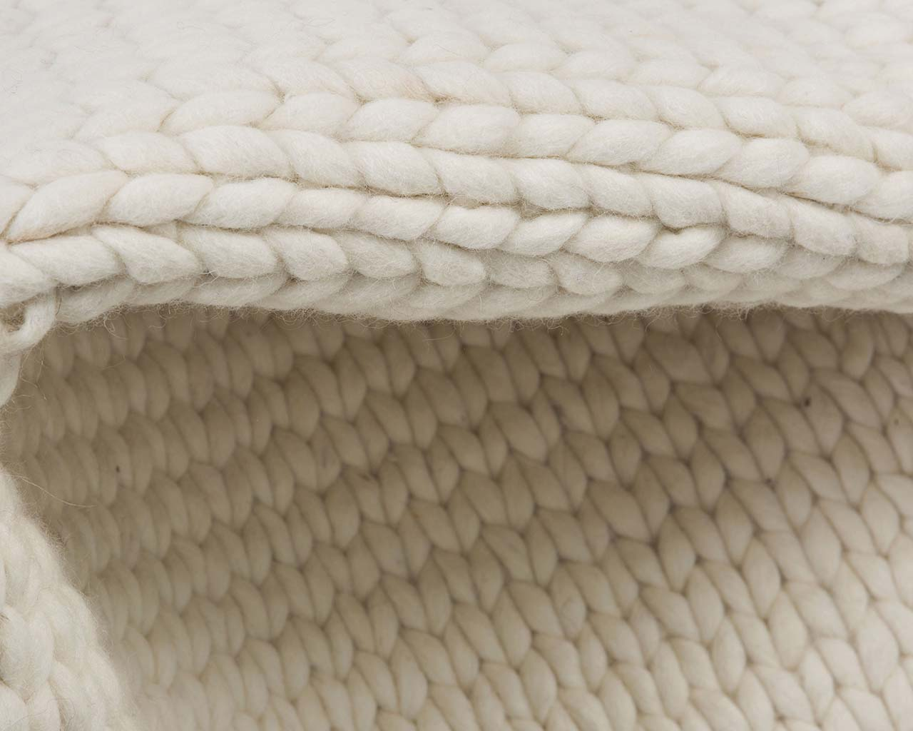 soft braided knitted snow wool kitchen throw rugs