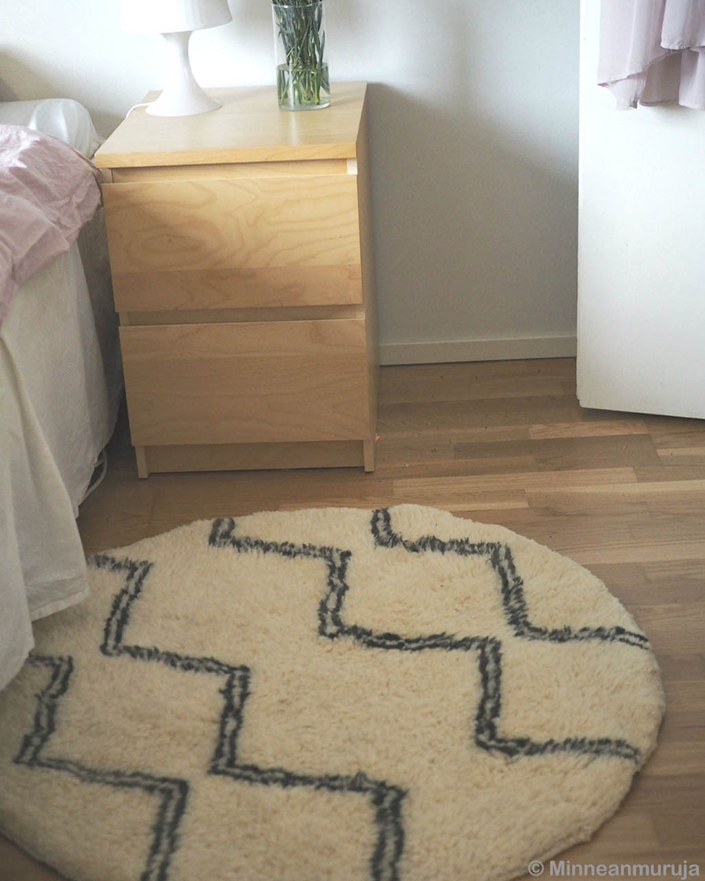 woolen bed side table round beni ourain clearance rugs