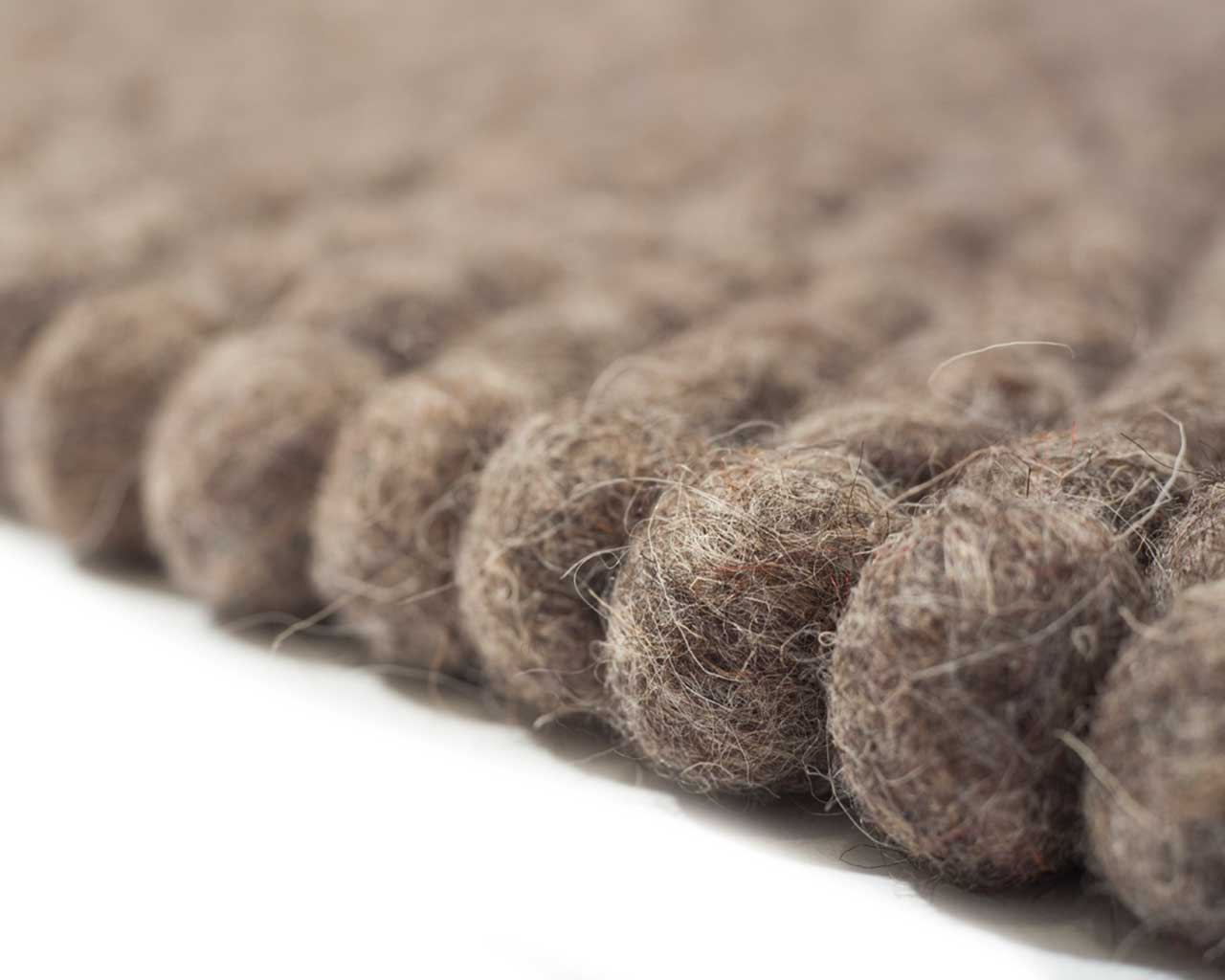 brown felted balls