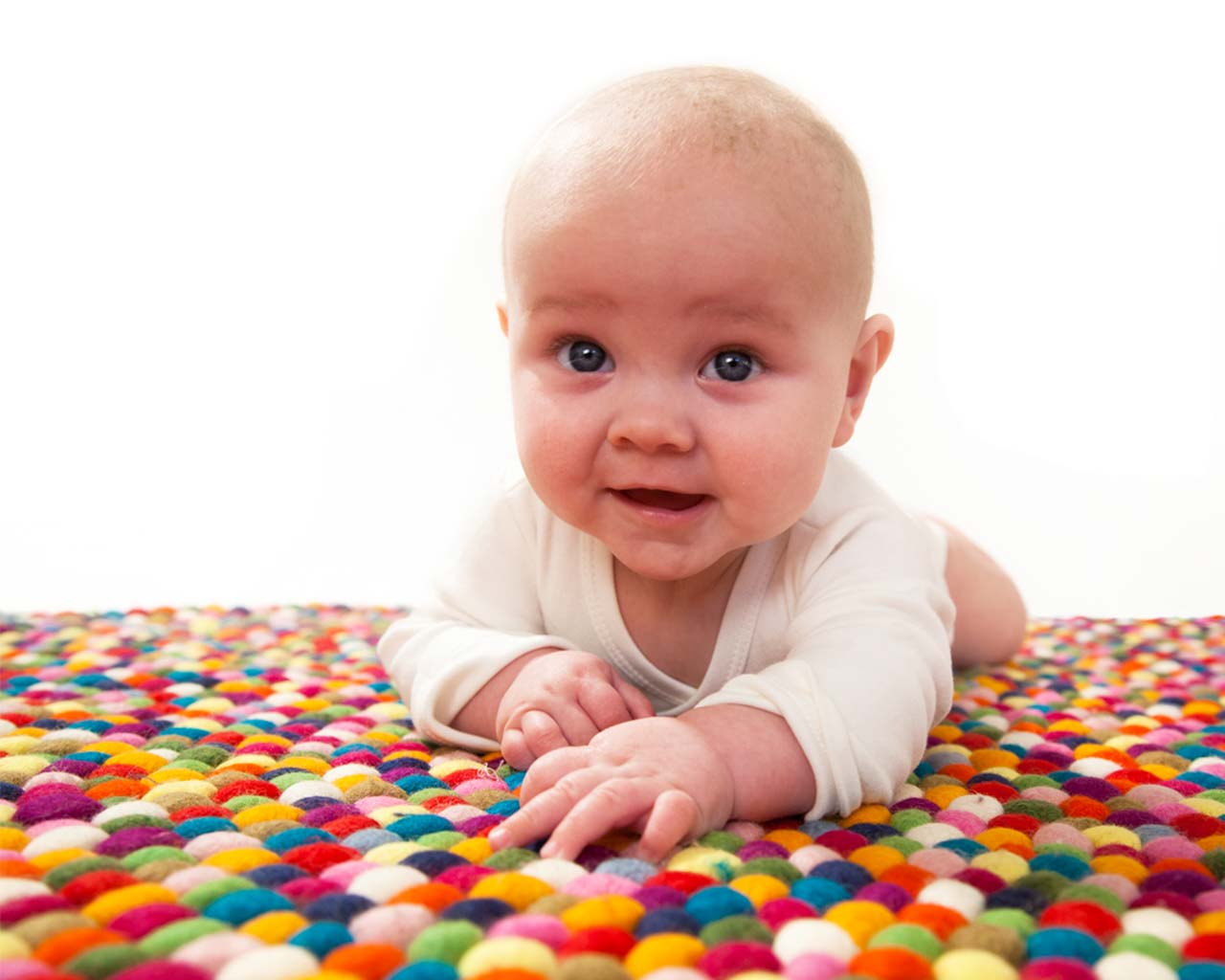 beautiful rug and child