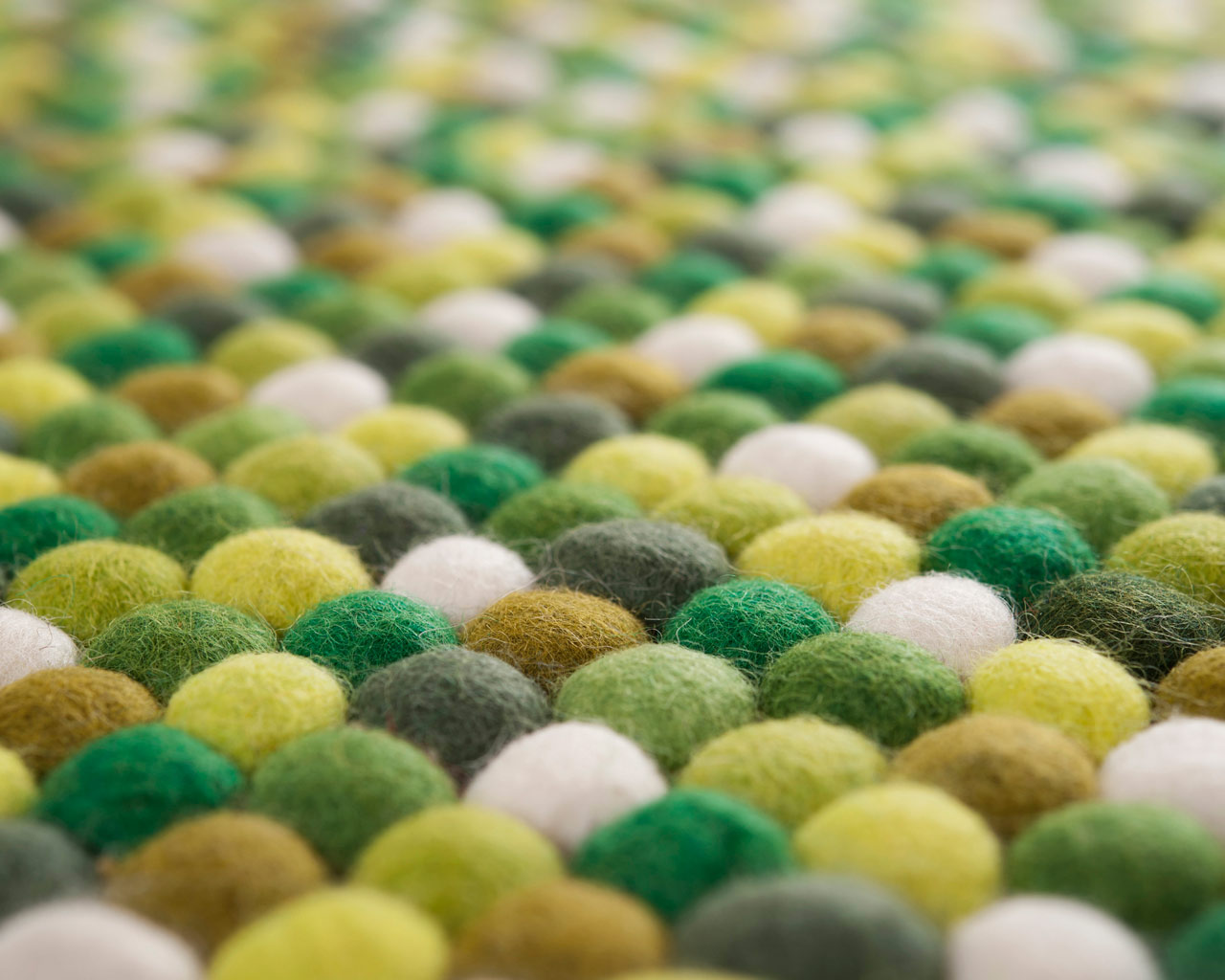 nepalese felted balls carpets green