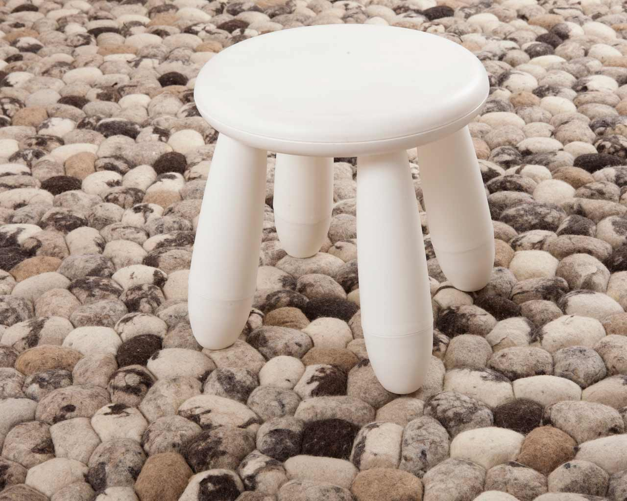 stool stones carpet soft texture