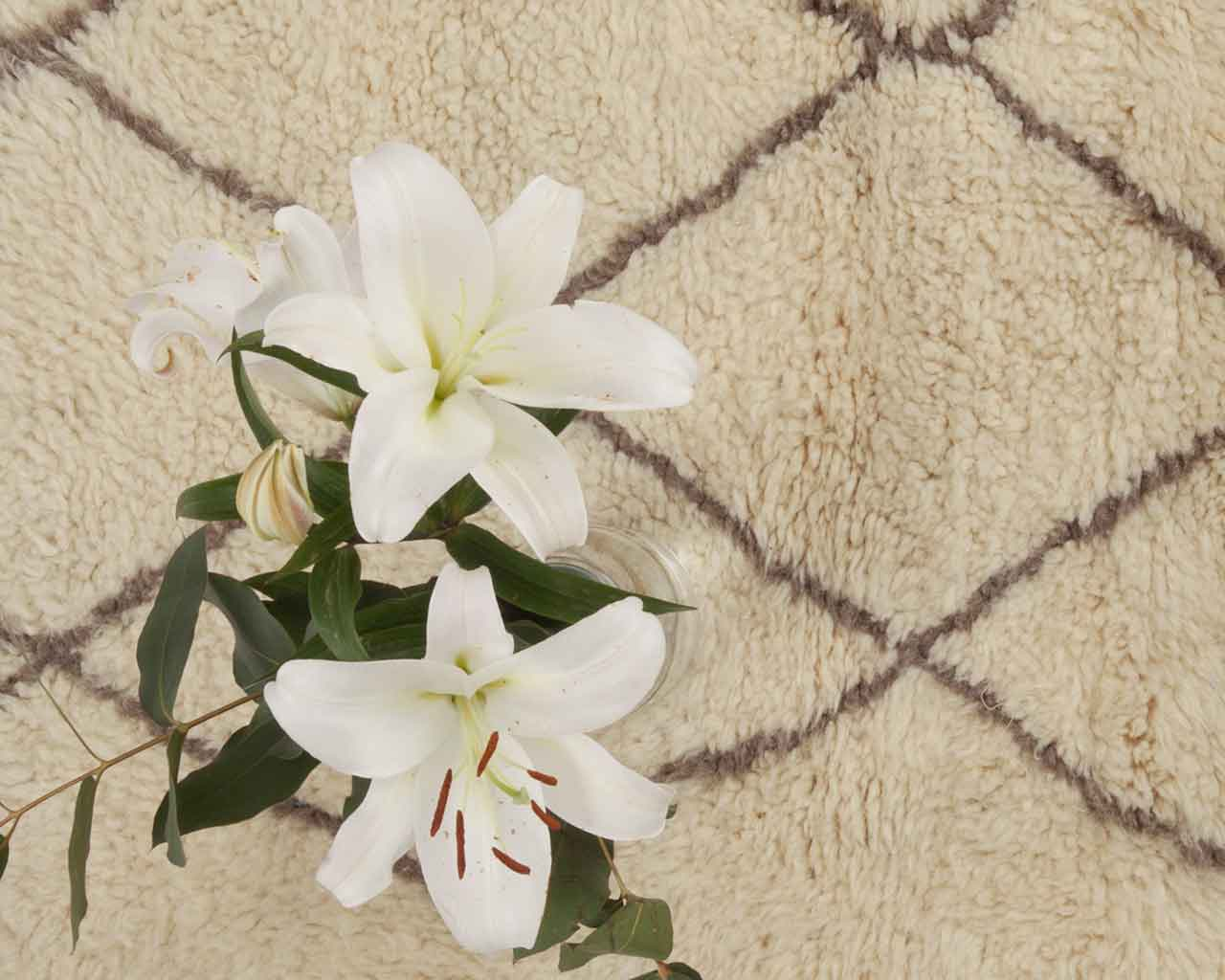 orchids white beni ourain berber carpet award 1